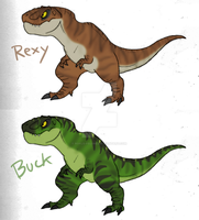 Rexy and Buck by RoFlo-Felorez