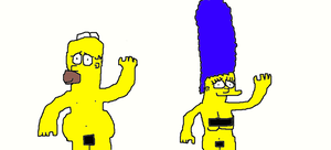 Homer and Marge nude by Simpsonsfanatic33