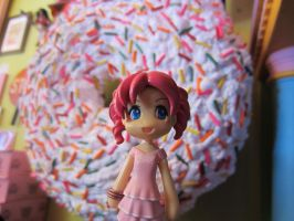 Pinkie Pie at Voodoo Doughnuts! by bluepaws21