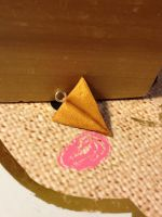 Gold paper airplane by WISH4000