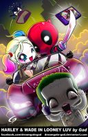 Harley and Wade in Looney luv by Gad by Dreamgate-Gad