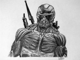 Prophet Drawing - Crysis 3 Fan Art by LethalChris