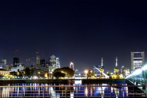Puerto Madero At Night 06 - Overview I by Maxi-eXequiel