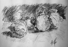 Apples in Charcoal by HatewarE