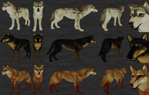 Some Arokai designs using some of my head markings by Roneri