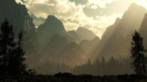 Sunrise at Mountain Pass by hoangphamvfx