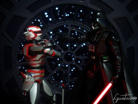 Jaspion VS. Darth Vader (Darth Vader wins) by GustavoSD