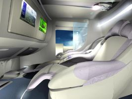 Seat bed for aiplanes by Vectorinox