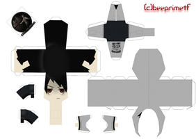 simon henriksson(cry of fear) - papercraft by BeePrimeTF