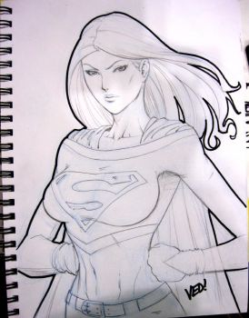 Supergirl by E-V-IL
