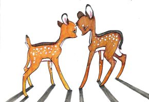 Bambi and Faline by black-cat7
