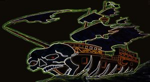 Haunted Pirate Ship Two by mcjjsurber