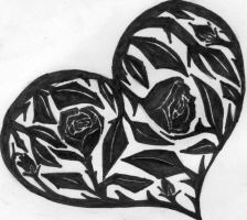 Tribal art heart by 0someone0