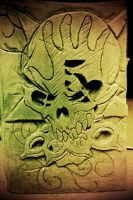 Five finger death punch carving.. by DJSIC