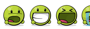 Giant Green Vector Emote Pack by guitarcraze