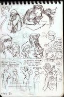 FMA OCs Sketchdump 6 by RaposaBranca