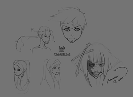 Face Doodles by tsaileehua