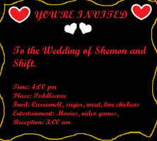 Invitations to Shift and Shemon's Wedding by Yingtheeevee