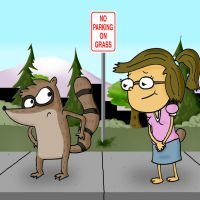 Regular Show- Rigby and Eileen by AJMSTUDIOS