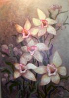 orchids by Hydrangeas