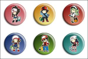 Pokemon Trainer Buttons by Maxx-V