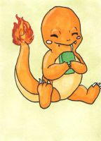 Supernova 2014 - Charmander ACEO by bittykitty