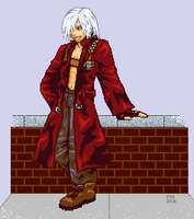 Dante- Full View pixel art by ShiningamiMaxwell