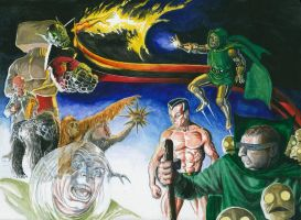 Fantastic Four Foes by Nick-Perks