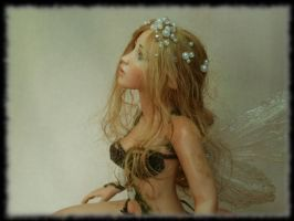 13 Spring Fairy sculpture ooak, 1 inch head by Rosen-Garden