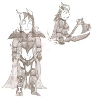 Zairah, The Draenei Death Knight. by FrostQuill