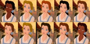 The Many Faces of Belle by FalseDisposition