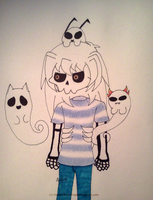 Mystery Skulls - Ghost - Bakura with ghost friends by InvaderBlitzwing