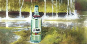 Borsec Bottle Painting by Futurum-Undam