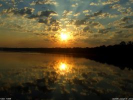 Langley pond sunrise 7-3-09-8 by Joseph-W-Johns