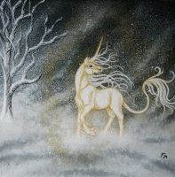Unicorn in winter by wildelbenreiter