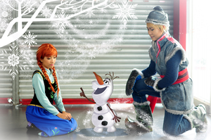 FROZEN: Meeting Olaf by kasaikun16