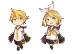 Rin and Len [Chibi] by YerBestFriend99