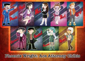 Phoenix Wright Ace Attorney Chibis - DISCONTINUED by HylianJess