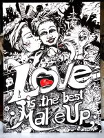 love is the best make up by nootoon