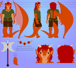 Reference Character sheet for Draco by SailorPhantom