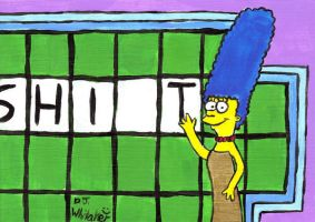 Marge as the Letter Turner by DJgames