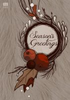 Season's Greetings Flora Holiday Greeting Card by itoinez