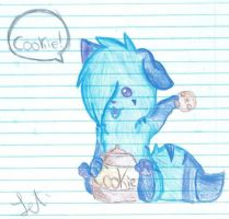 Angel took the cookie from the cookie jar by Letipup