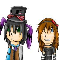 me and Jenn's rant icon :D by Uxiethecat