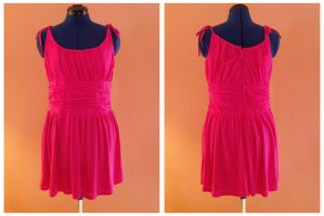 pleated pink jersey dress. by remy-lenour
