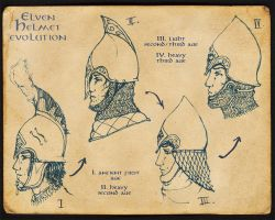 Elven Helmet Evolution by Merlkir