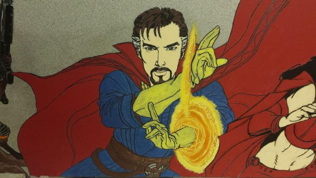 Crater City Comix Tombs WIP Dr Strange flats by Wolfgang-Blaine