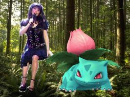 Sarah Brightman and Ivysaur by Kimberly-AJ-04-02