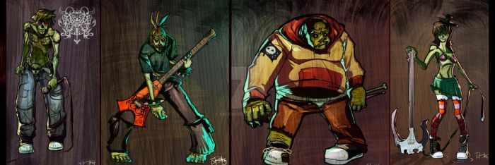 zombie band concept. by erek80