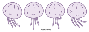 Little Purple Jellyfish by Daieny